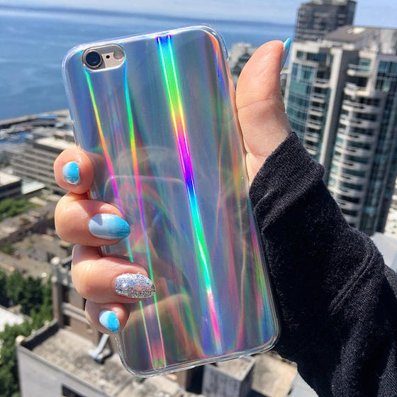 Image of Laser Beam Holographic iPhone Case