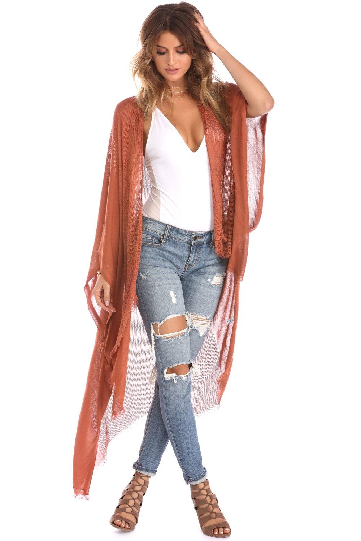Summer Kimono Rust