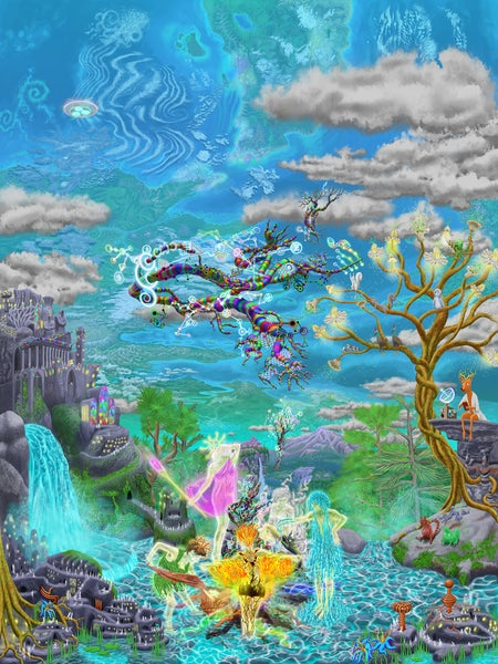"Image of ""Fairy Festivals of the Inner Earth"" Tapestry"