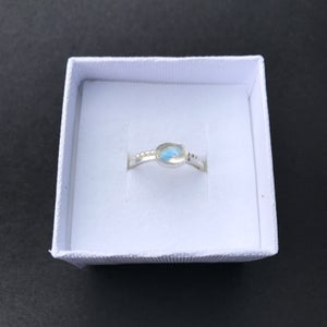 Image of Moonstone Silver Ring