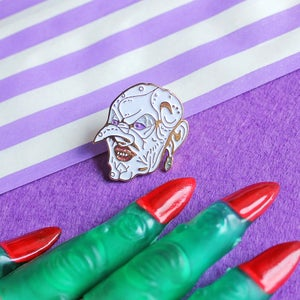 Image of 'Grand High Bitch' witchy enamel pin - spooky - witches - glitter pin - lapel pin badge