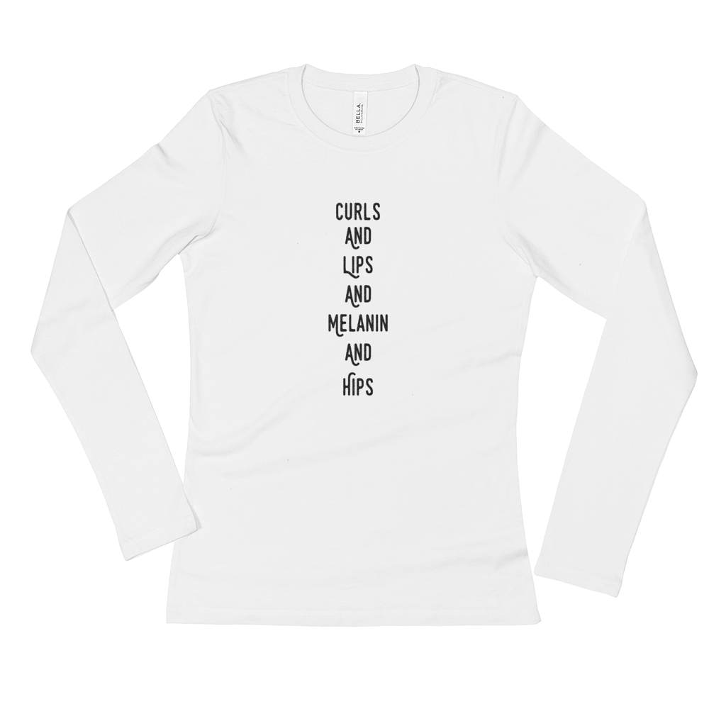 Image of Curls and lips long sleeved tee