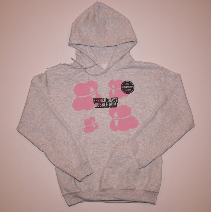 Image of Light Grey Bubble Gum Hoodie