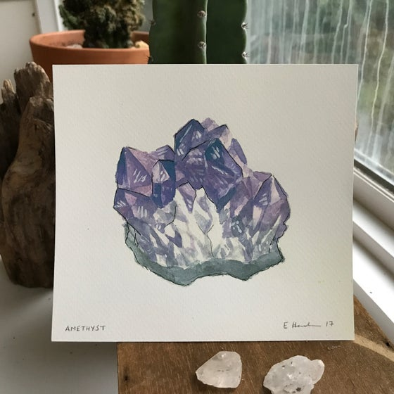 Image of Amethyst print by E Henderson - All proceeds support trans people of color in NC