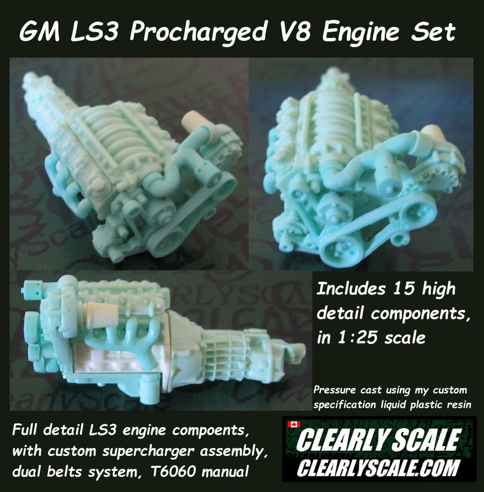 Image of GM LS3 Procharged V8 Engine Set