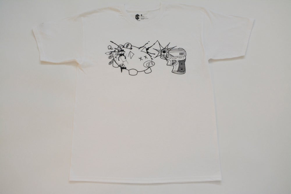 Image of Piggy Bank Tee (Black outline)