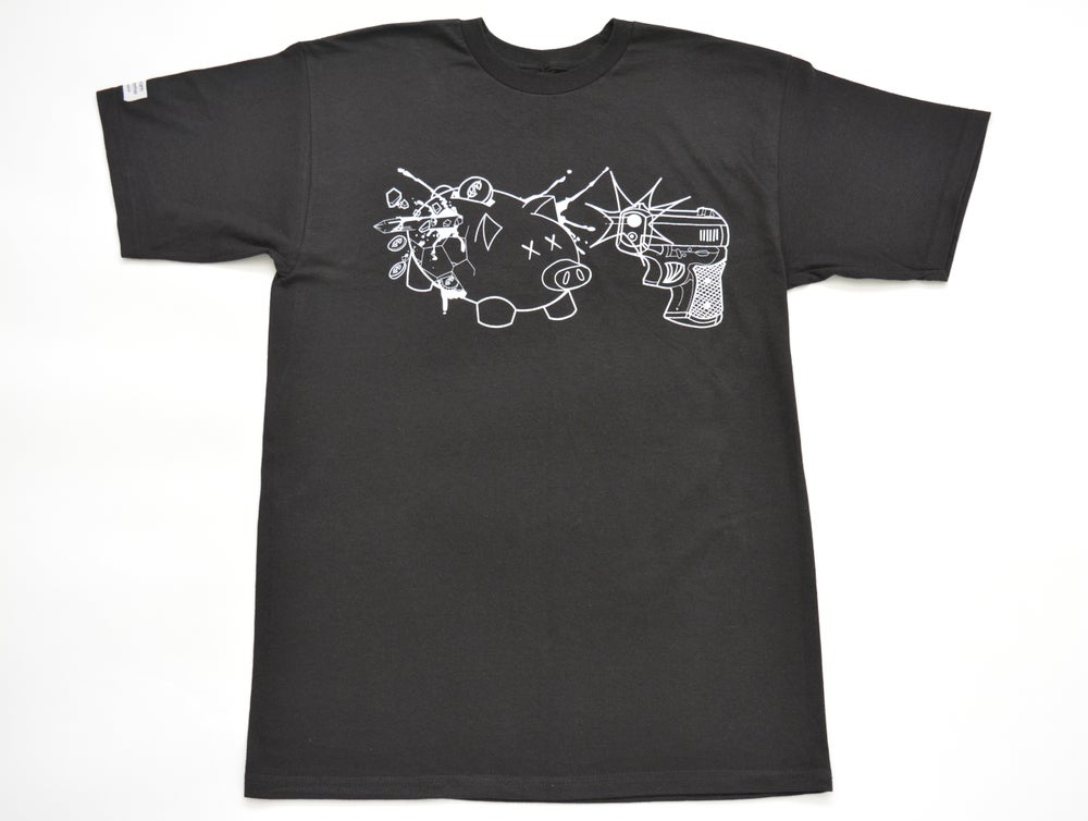Image of Piggy Bank Tee (White outline)
