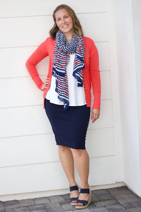 Image of Navy Blue Skirt