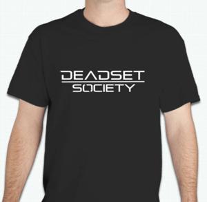 Image of <b>DEADSET SOCIETY </b><br>T-Shirt Black  w/ White Logo<br>