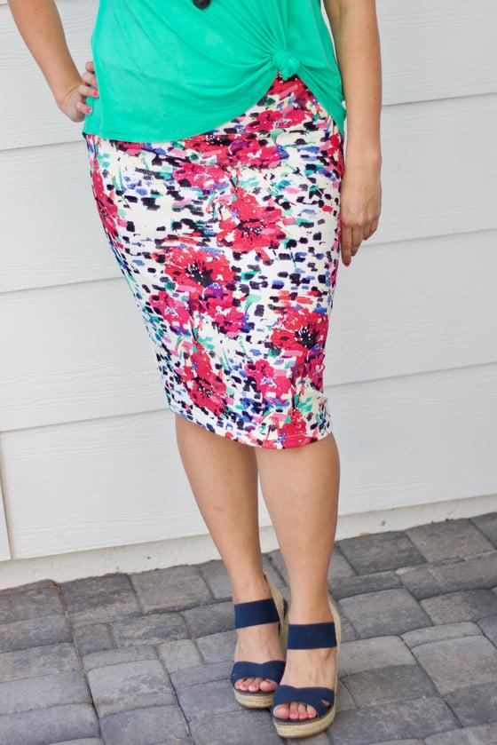 Image of Summer Floral Skirt