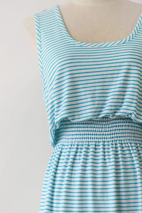 Image of SOLD Slouchy 80s Aquamarine Tank Dress