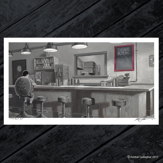 Image of The Noir Burger - Artist Proof Print
