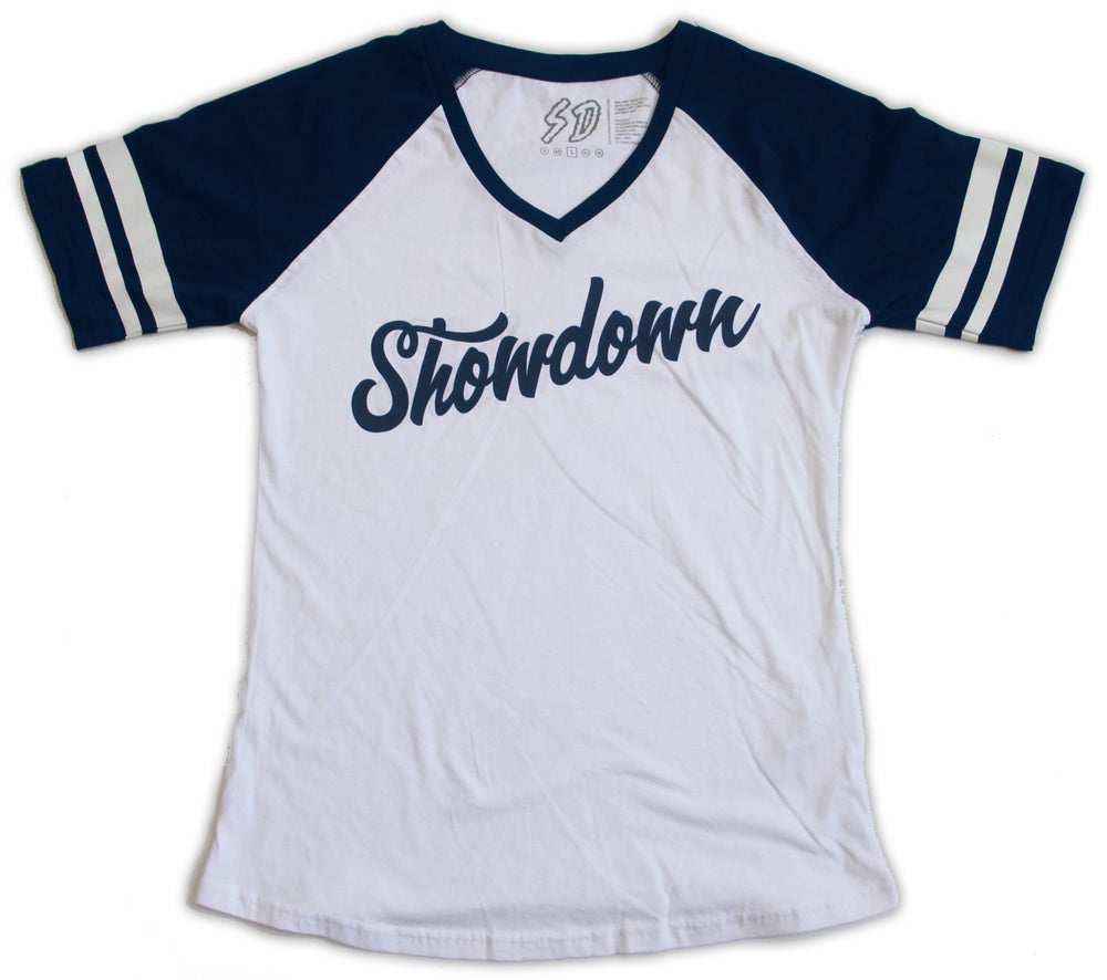 Image of Womens Stripe -White/Navy
