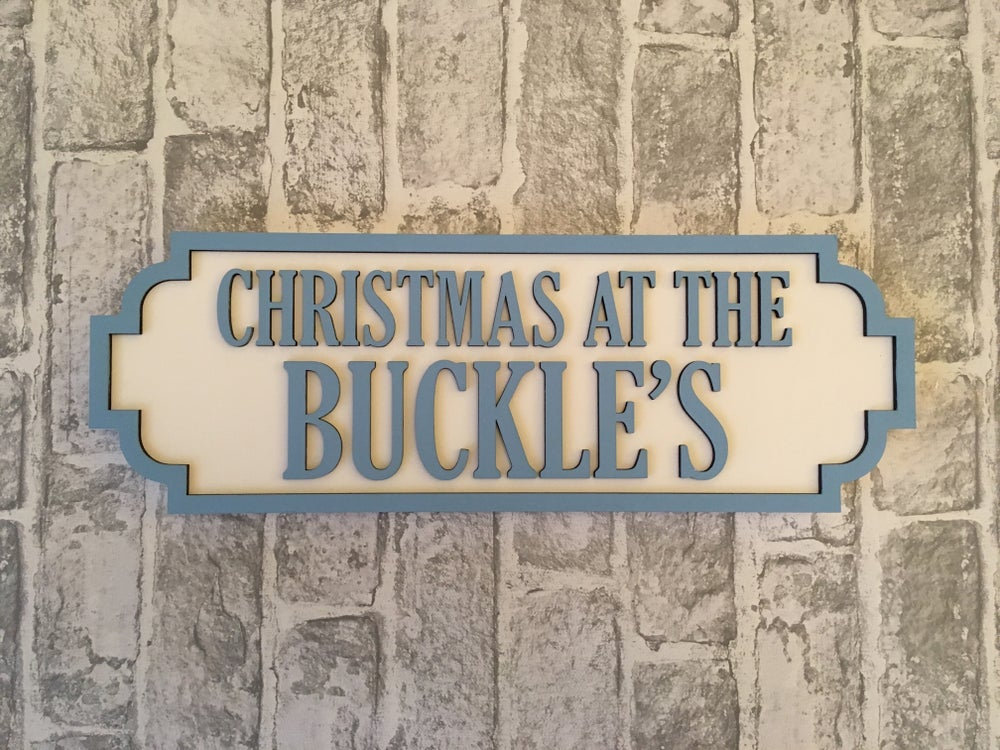Image of Christmas Street Sign