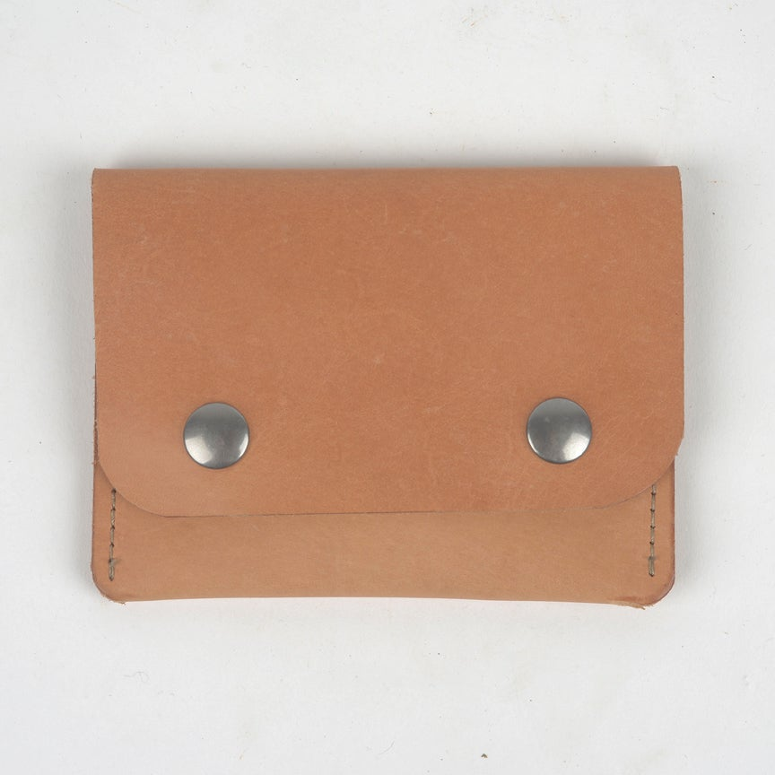 Image of Middle Man Leather Wallet - Natural Veg Tan