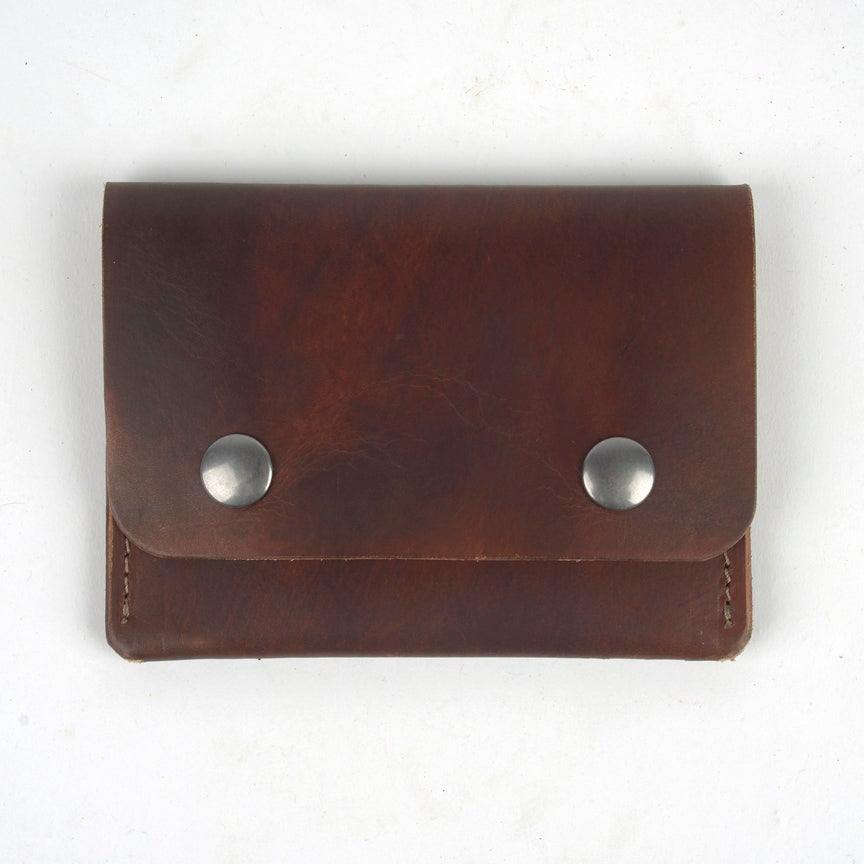 Image of Middle Man Leather Wallet - Tea