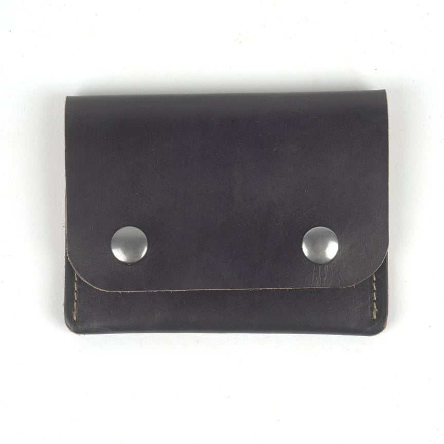 Image of Middle Man Leather Wallet - Black