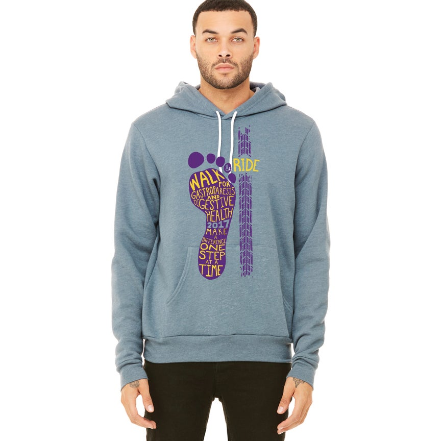 Image of Unisex Sponge Fleece Pullover Hoodie - Purple Logo