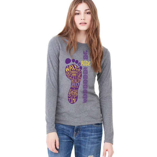 Image of Women's Jersey Long Sleeve Tee - Purple Logo