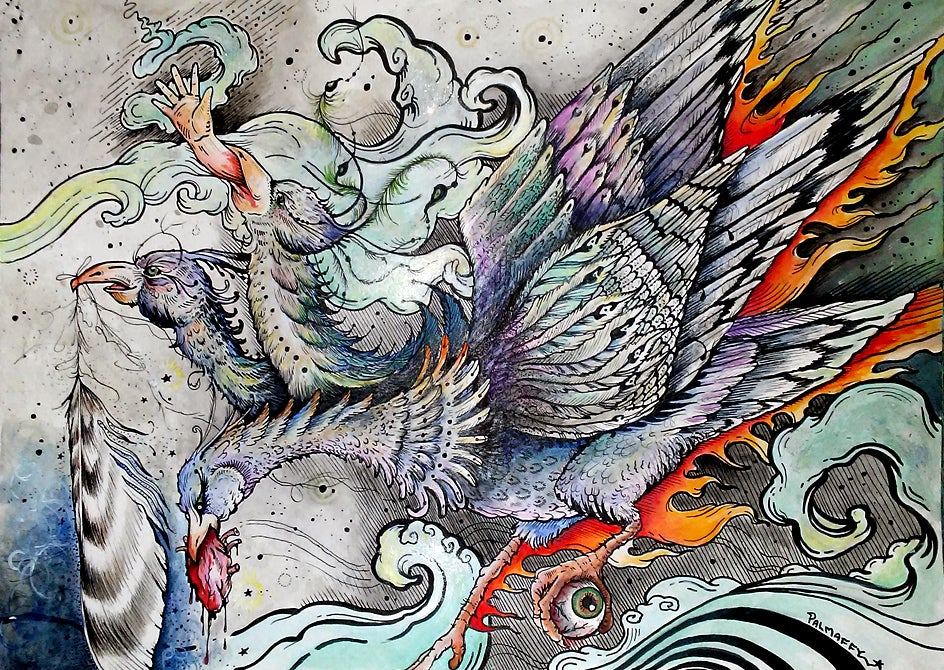 "Image of ""Jaberwock-Phoenix"" Fine Art Print"