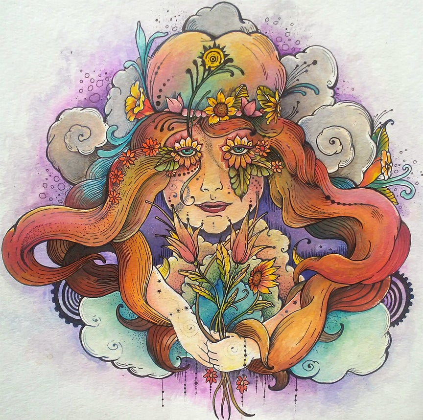 "Image of ""Cosmic Flower Child"" Fine Art Print"
