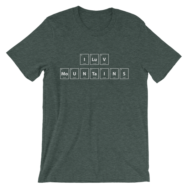 Image of Men's I LuV MoUNTaINS Tee - Green