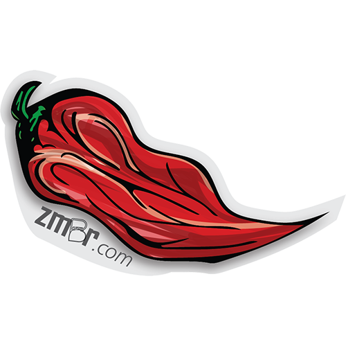 "Image of Ghost Pepper 3"" Die-Cut Sticker"