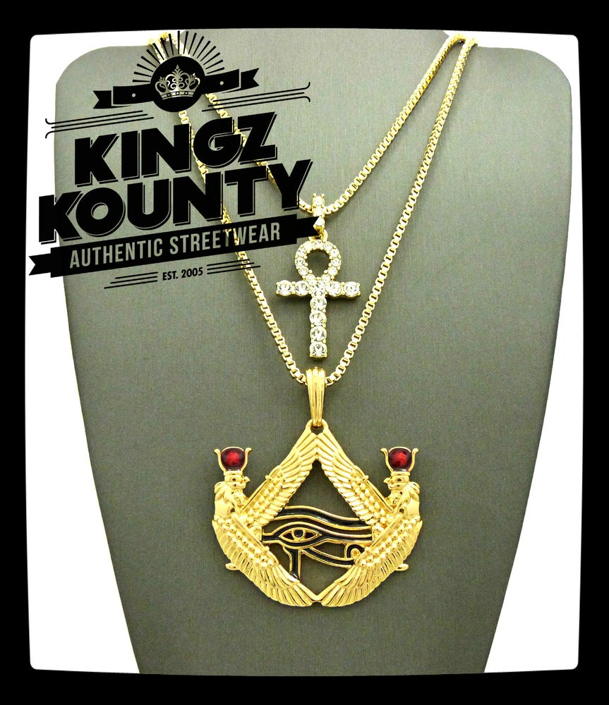 Image of ICED-OUT-AHNK-WINGED-EYE-RA