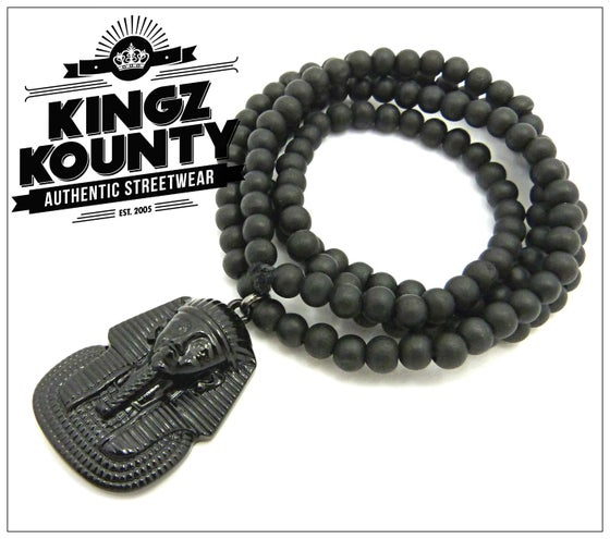 Image of BLACK-KING-TUT-BLACK-BEADS