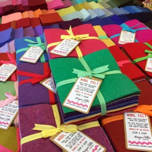 Image of Upcycled Rainbow Wool Felt Bundles