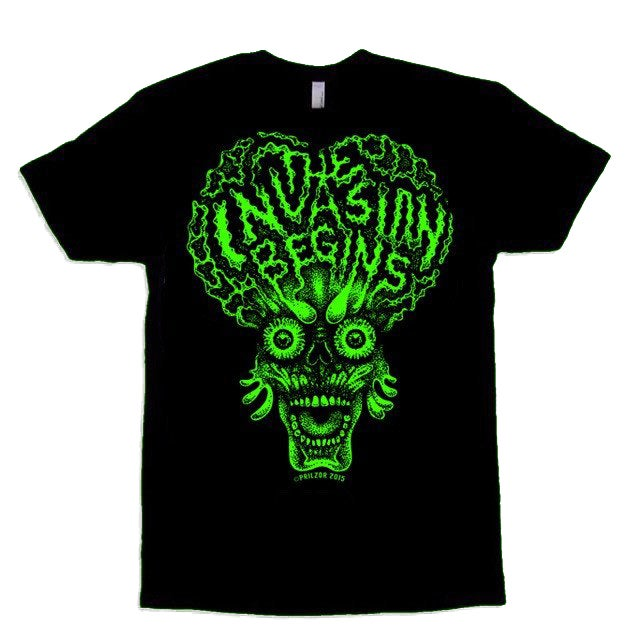 Image of THE INVASION BEGINS T-SHIRT