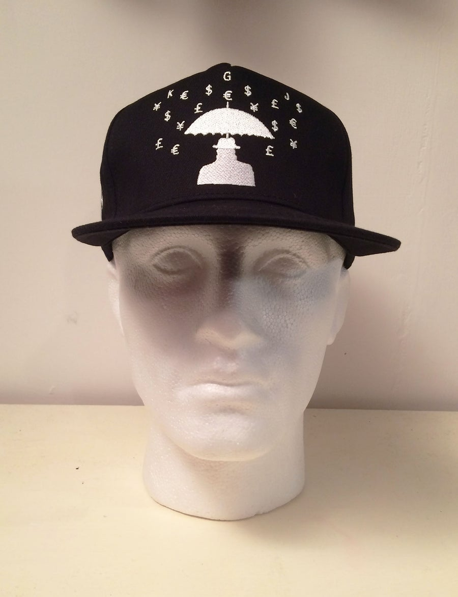 Image of KGJ Fashion Rich People Problems SnapBack Hat - Black & White