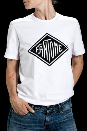 Image of T-shirt Made in France 100% Coton BIO BLANC _ FANTOME