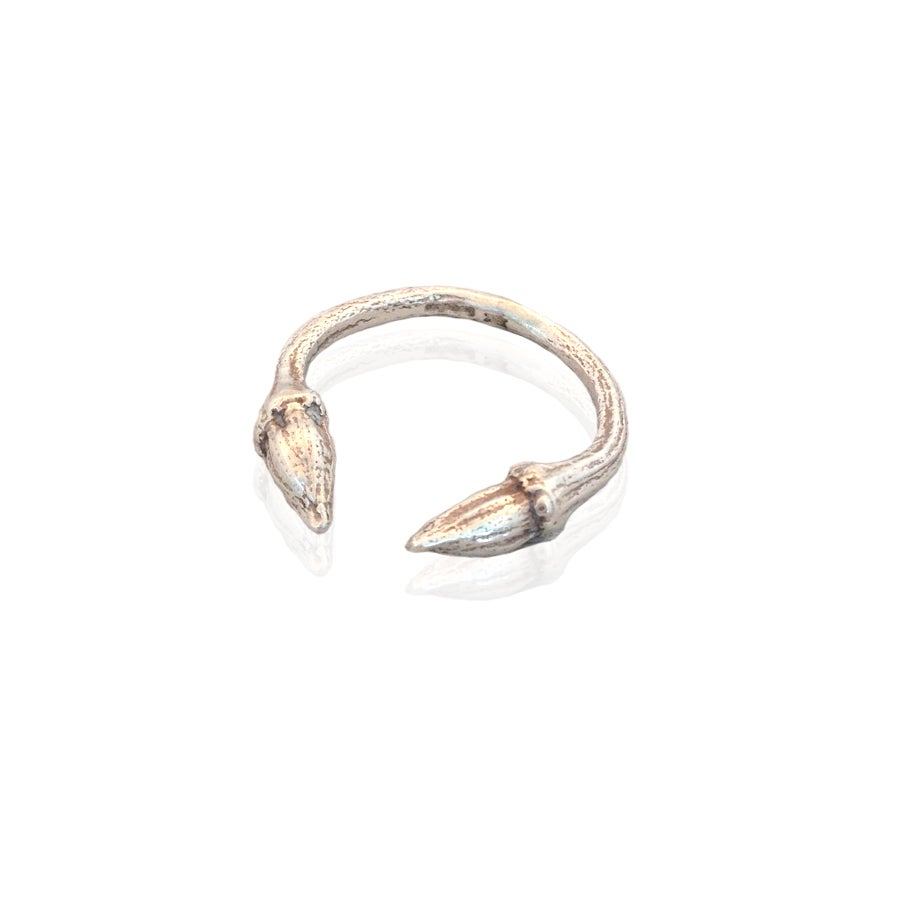 Image of Silver open twig ring