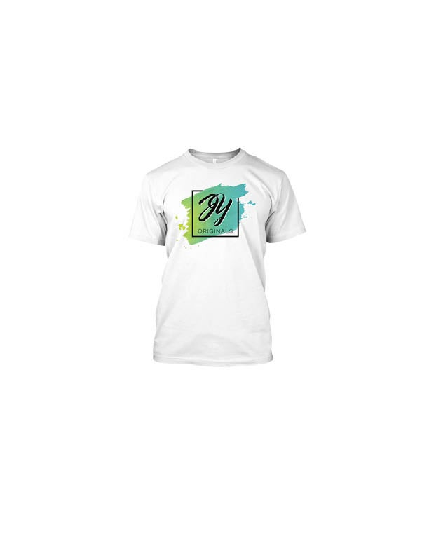 Image of The Supporter Package (White): JY Originals Logo Tee + Logo Pin