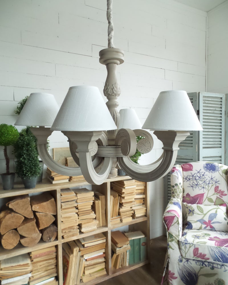 Image of  Lampadario light grey a 6 luci