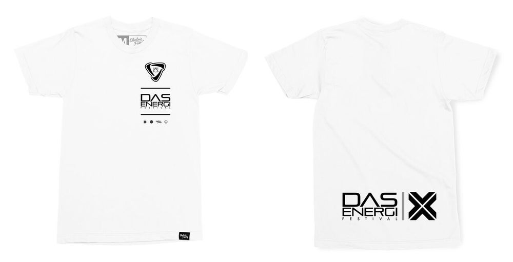 Image of Limited Edition Electric Family Collab Energi Print: White Tee