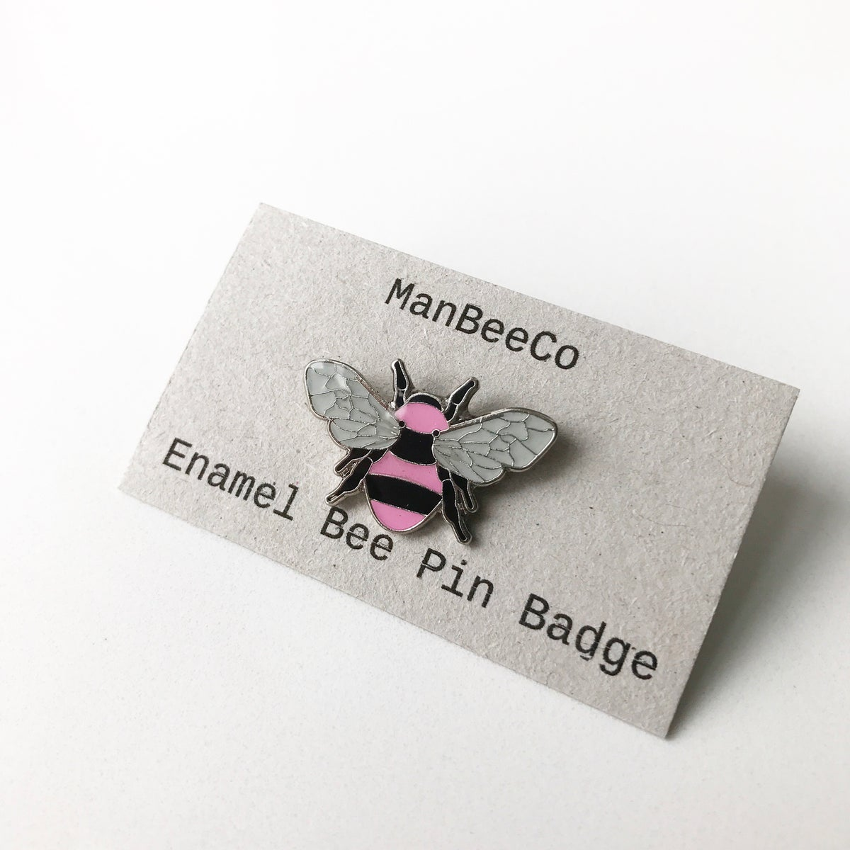 Image of Manchester Bee Enamel Pin Badge in Pink