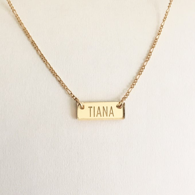 Image of Custom CLASSIC GOLD BAR Necklace