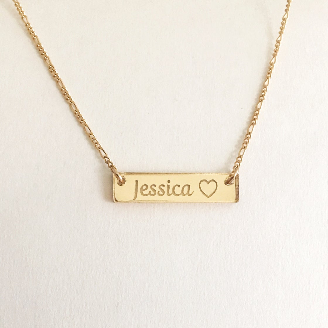 Image of Custom CURSIVE GOLD BAR Necklace