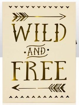 Image of Wild and Free Light up Wooden Sign