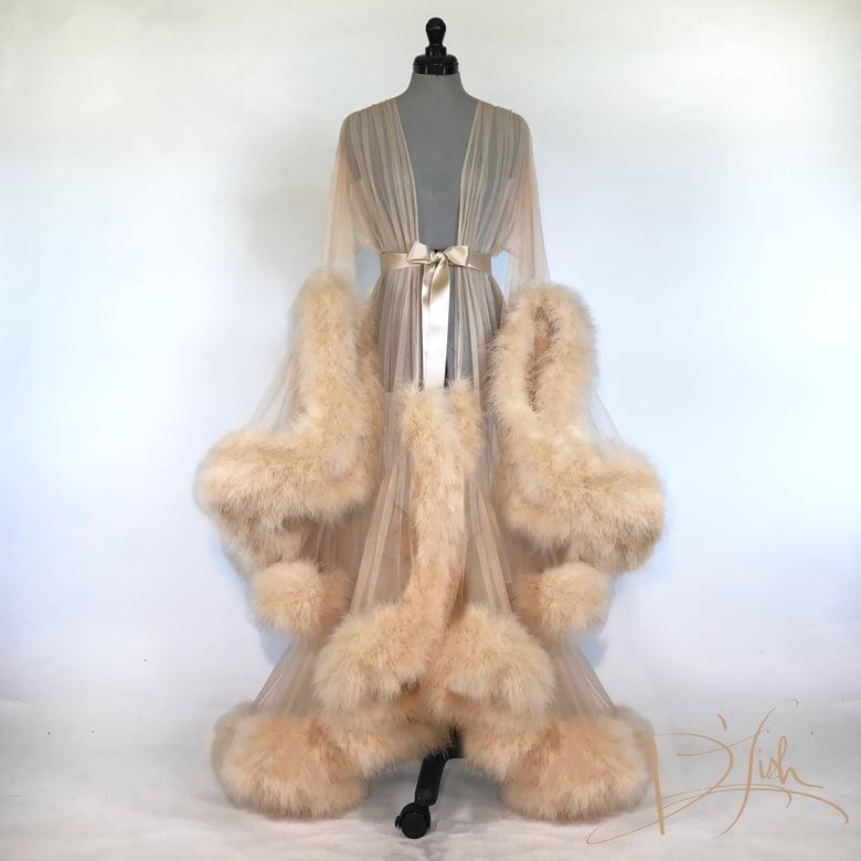 "Image of Golden Camel Deluxe ""Cassandra"" Dressing Gown"