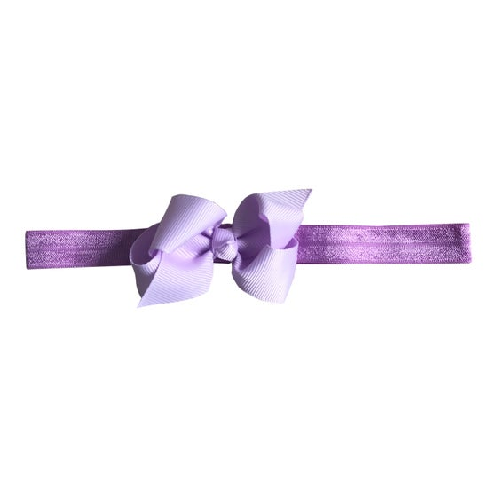 Image of Lilac Baby Bow Headband