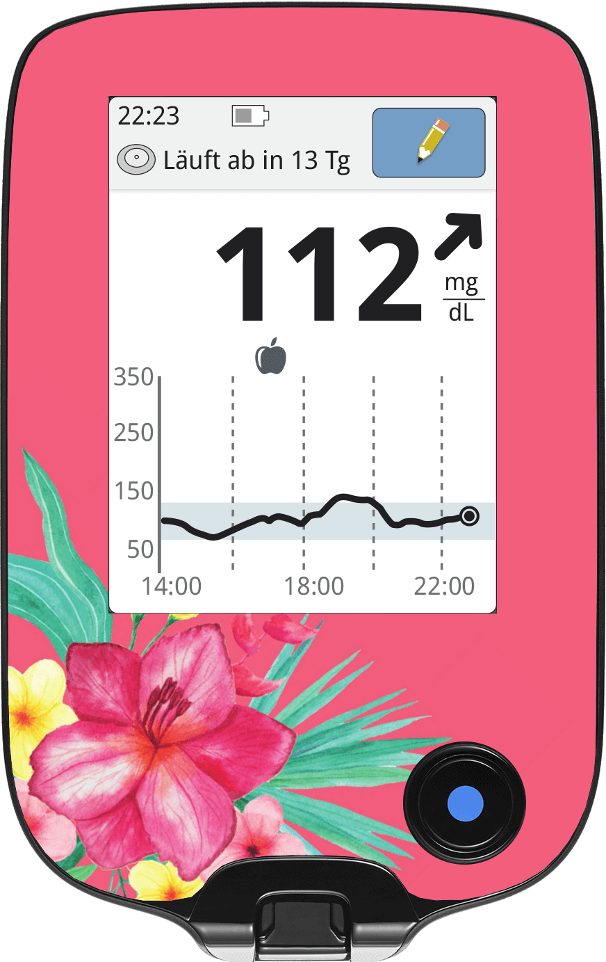 Image of Pink Flowers Freestyle Libre Screen Protector