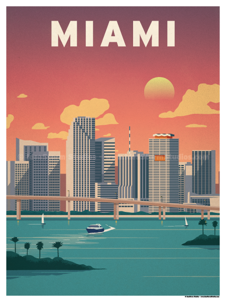 Image of Downtown Miami Poster