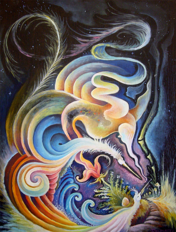 Image of Spirits and Kin original Oil Painting