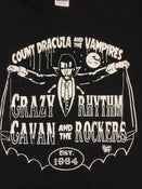 "Image of MENS ""COUNT DRACULA"" CRAZY CAVAN T - SHIRT -  IN STOCK"
