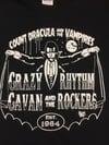 """NEW! """"COUNT DRACULA"""" - CRAZY CAVAN T-SHIRT- (CRAZY CAVAN STORE)"""