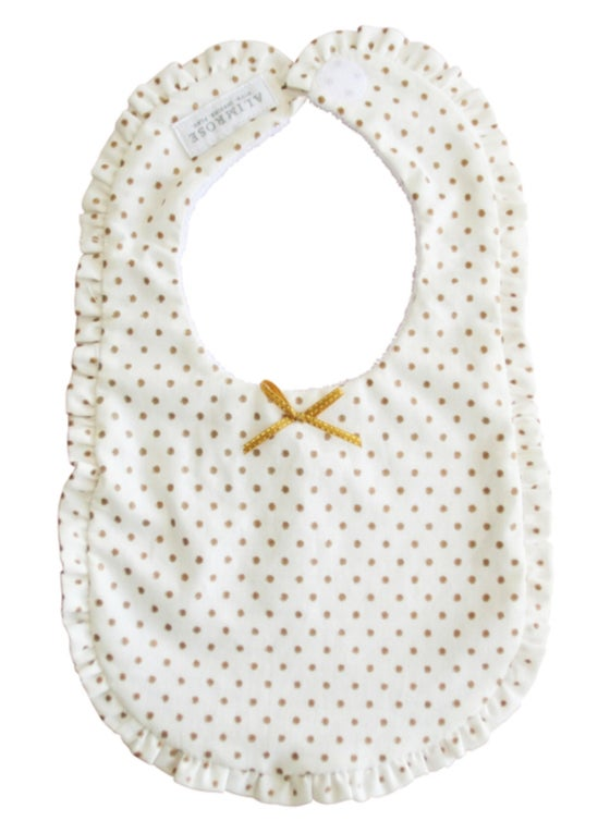 Image of Gold and white ruffle bib