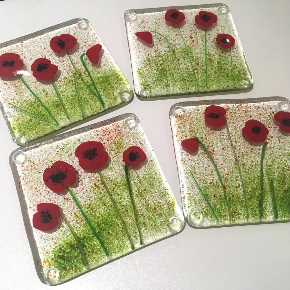 Image of Poppy Art Coasters